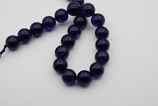 16mm Genuine Smooth Round Shape Amethyst Bead