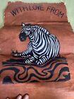 "12 X 22 Fabric ""With Love From Uganda"" Zebra Wall Hanging"