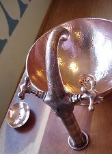 Color de cobre grabada marroquí empañada montado Grifo Mezclador Baño Lavabo