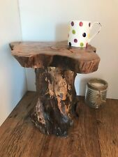 Teak Tree Root Side Table Coffee Carved Wood Reclaimed Plant Cake Stand Rustic