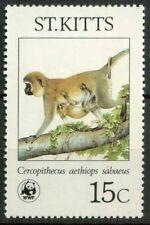 St. Kitts 1986 SG 211 Nuovo ** 100% Spcies pericolo d'estinzione, scimmie verdi