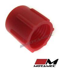 Motamec AN JIC -3 AN3 Tapa De Plástico Para Manguera De Combustible Cubierta de polvo rojo
