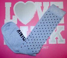 Victoria's Secret PINK Metallic Sparkle Silver Studded Knee High Sport Socks