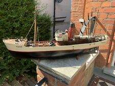 Vintage RC Wooden Model Boat Steam Ship Trawler For Electric 36 inches