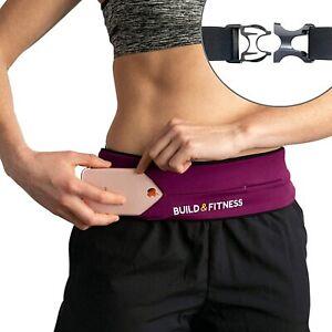 Build & Fitness Running Belt Purple A9