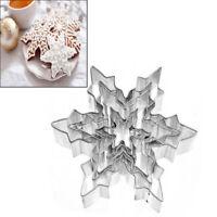 gâteau decor outils décorative l'acier inoxydable flocon de neige biscuit moule