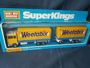 "MATCHBOX SUPERKINGS K-21 FORD TRANCONTINENTAL ""WEETABIX"" NEVER OUT OF BOX  MIB"