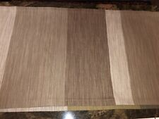 """PRETTY CRATE&BARREL RUNNER~GREY&TAUPE~FRACTIONS 108""""LONG"""