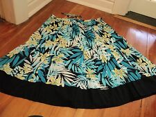 wombat 18 cotton  floral black skirt