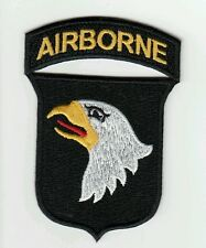 "Patch US 101st 101ème AIRBORNE ""cut edge"" WWII Normandie - REPRO"