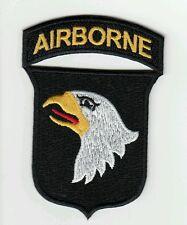 """Patch US 101st 101ème AIRBORNE """"cut edge"""" WWII Normandie - REPRO"""