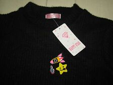 HAPPY STAR Pull long / Robe noir 14ans