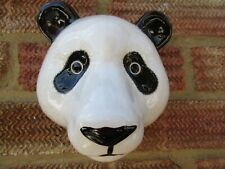 More details for fabulous large panda wall vase/ plant pot by quail ceramics boxed ideal gift