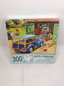 Bits And Pieces - Washing Grandpa's Car - 300 Piece Puzzle Complete -easy grip