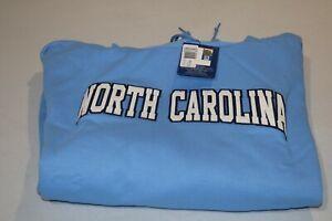 Champion North Carolina Tarheels Adult Logo Sweatshirt Hoodie XXL 2XL Blue NWT's