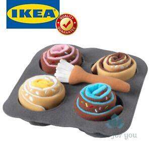 IKEA DUKTIG 6-piece Roll Set Cinnamon Bun