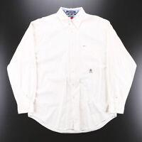 Vintage TOMMY HILFIGER White Crest Shirt Size Mens Large