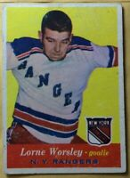 1957-58 Topps #53 GUMP WORSLEY~VGEX+ *NO CREASES* *NO WRINKLES*