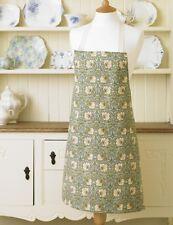 William Morris Pimpernel Green Cotton Drill Floral Apron