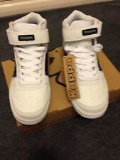 MENS KAPPA TERRACINA LEATHER TRAINERS WHITE / BLACK / BLUE SIZE 8 NEW WITH BOX