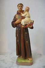 Vintage Saint Anthony Infant Jesus Chalkware Religious Statue