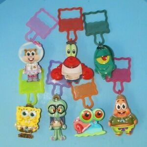 "Wendy's ""Sponge on the Run"" Complete Set of Toy Clips SpongeBob Squarepants L@@K"