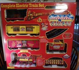 NIB Rare Limited Edition Keystone Circus Train With Animals Track COA G Scale