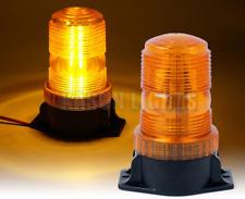 30 LED HIGH POWER ROTATING EMERGENCY WARNING FLASH BEACON LIGHTS AMBER 10-110V