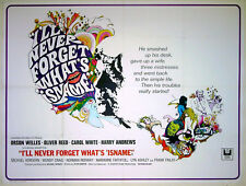 I'LL NEVER FORGET WHAT'S 'IS NAME 1967 Oliver Reed Orson Welles Carol White QUAD