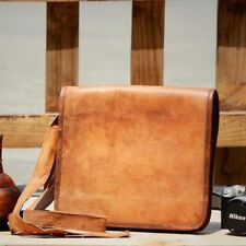 Leather Bag Vintage Messenger Shoulder Men Satchel Laptop women Briefcase bags