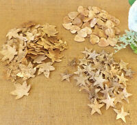 Natural Birch Tree Bark Star Leaf & Hearts Home Craft Wedding Christmas 25 & 50