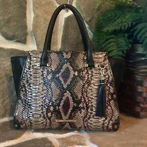 Brahmin Priscilla Travertine Ballington Leather $445 Handbag