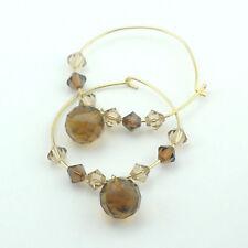 Crystal Alloy Hoop Fashion Earrings