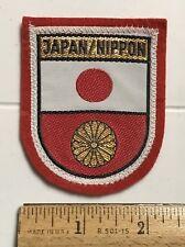 Japan Nippon Japanese Flag Souvenir Red Felt Patch Badge