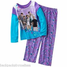 ONE DIRECTION 1D Purple PAJAMAS Girl's 7/8 NeW 2 pc Set Pjs L/S Shirt Top Pants