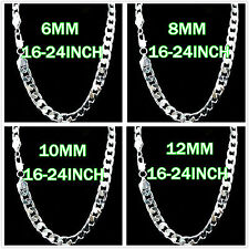 4MM Wide Solid Silver Jewelry Lady/men Silver Necklace Silver Chain New Styler