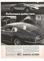 1973 Sunoco Special Long Mileage 10W 40 Motor Oil Heavy Load Hauling Desert Ad