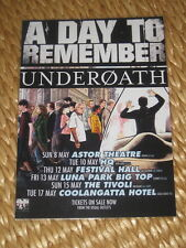 A DAY TO REMEMBER - UNDEROATH AUS  TOUR -  LAMINATED PROMO TOUR POSTER