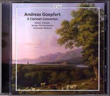 Dieter Klöcker: Andreas Goepfert 3 Clarinet Concerto CPO cdjohannes moesus 2010