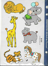 Vintage Handpainted Animals Decals by Decorcal B-31Great for A Nursery New