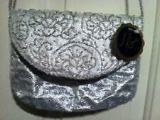 Womens La Regale Silver Evening Handbag New With Tags