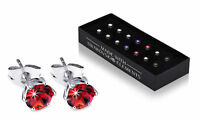 Earrings with Swarovski ® Crystal Elements White Gold Plated 7 Pairs Gift Box