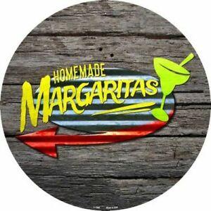 """Homemade Margaritas 12"""" Round Metal Sign Beach Pool Pub Bar Fun Home Wall Decor"""
