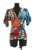 Desigual Women's short sleeved Top Blouse Size Small