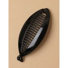 NEW 12cm Black banana fish clip womens hair accessory fashion