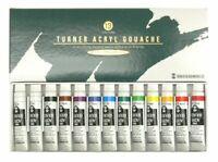 Turner color acrylic gouache thirteen 12 colors School set AG13C 11ml Japan*