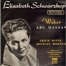 ELISABETH SCHWARZKOPF, WEBER, ABU HASSAN VINYL RECORD - 1963