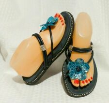 ALEGRIA CHA CHA BLUE MULTI SNAKE Sandals - Flip Flops Women's Sz 8