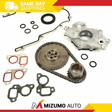Timing Chain Kit Cover Gasket Oil Pump Fit 97-04 Cadillac Chevrolet 4.8 5.3 6.0