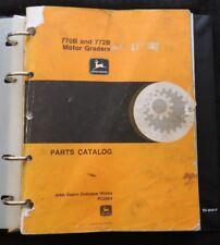 ORIGINAL JOHN DEERE 770B 772B MOTOR GRADER PARTS CATALOG MANUAL GOOD SHAPE